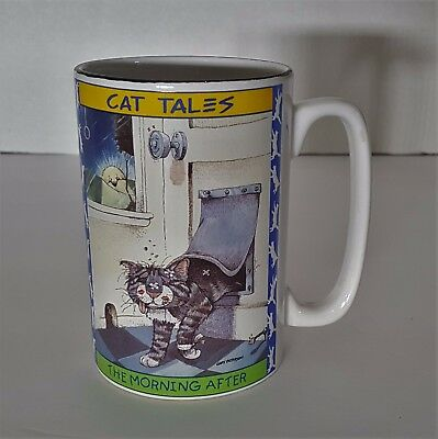 """Gary Patterson Cat Tales """" The Morning After """" 1998 by Westwood Cup"""