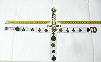 Complete Medieval Belt (18 pieces) with dagger scabbard 12th-16th century