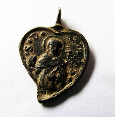 Medieval Bronze Holy Medal XIV-XVII Century
