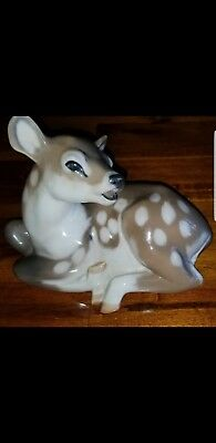 1968 Royal Copenhagen Spotted Fawn / Baby Deer Figure #2609