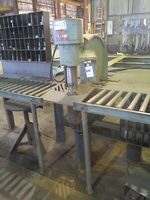 90 Ton Whitney MDL 791-0001 Hydraulic Portable C Frame Plate Punch Fabricating