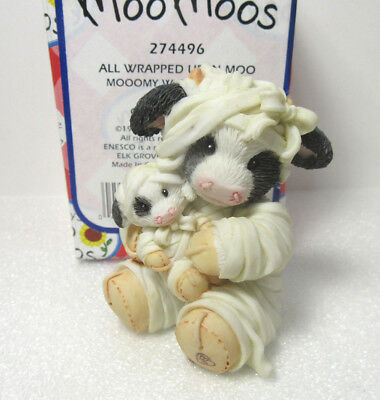 Mary's Moo Moos ALL WRAPPED UP IN MOO MOOMMY Mummy Halloween Cow Figurine