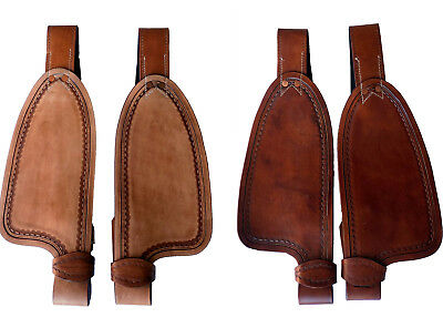 """9"""" 10"""" 12"""" Children's Youth Western Saddle Leather Replacement Fenders 2-colors"""