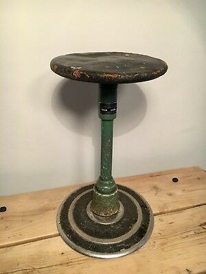Stool, 1950s Old Dental, Operating, Machinist Stool, Industrial, Factory