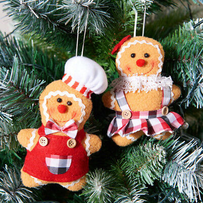 Gingerbread Man Christmas Tree Decoration Ciondolo in peluche Happy Holiday