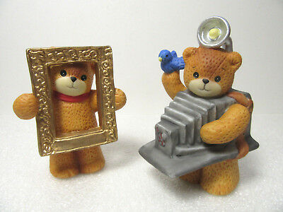 Lucy & Me ~ Photographer Camera Man with Prop & Picture Frame ~ Enesco Figurine