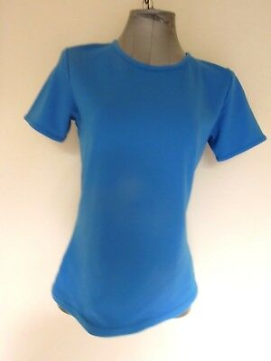 KATHMANDU  Altica  MID-BLUE Short Sleeved BASE LAYER TOP    *Size 12 Womens