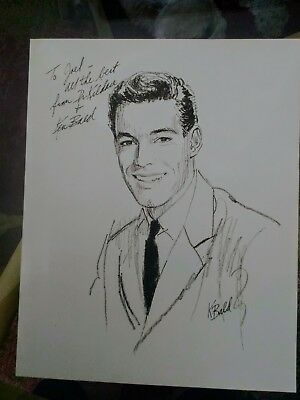 "Signed Ken Bald Portrait of ""Dr. Kildare"" Played by Richard Chamberlain"