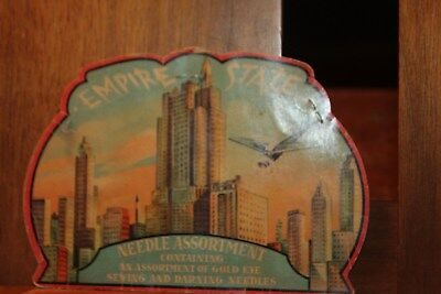1930's Empire State Needle Assortment Package Airplane Steamship Building
