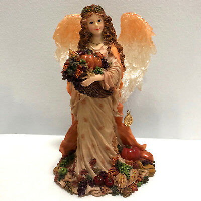 Boyds Charming Angels Figurine Kendall Angel of Bounty Limited Edition w Charm