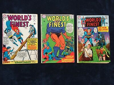 World's Finest # 154, #158, #195 Lot of (3)