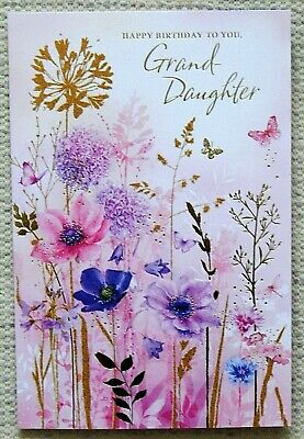 Granddaughter Birthday Card With A Loving Verse Coloured Insert Grandaughter