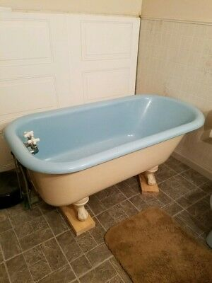 Cast Iron Claw Foot Tub and coordinating sink