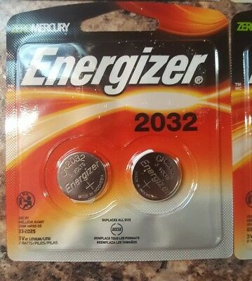 Lot of 3, 2 ct. packs! Energizer 2032BP-2 3 Volt Lithium Coin Battery - New!