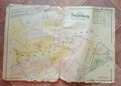1920 Main Line Atlas - Pennsylvania RR - Narberth / Untere Merion Township