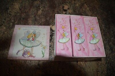 kids 3 boxed photo album set  -pink fairies Cute! NEW!