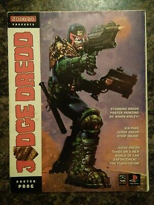 2000AD Judge Dredd Poster Prog, 1997 PlayStation game one-off tie-in