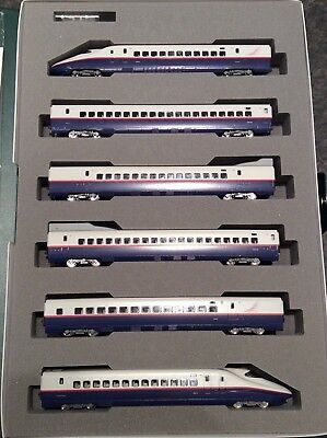 N Scale NIB Rare Kato E2 Shinkansen 6-Car Passenger Set #10-377 with Power Car