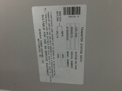 Generac RTSD200A3 200 Amp 120/240V Automatic Transfer Switch