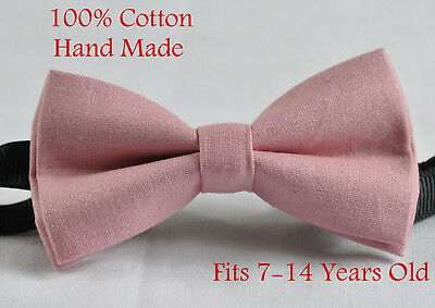 Boy Kids Youth Dusky Dusty Rose Pink Blush Pink  Bow Tie Fits 7-14 Years Old