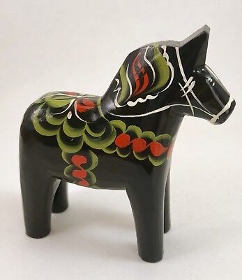 "NEW Swedish Dala Horse 4"" Black"