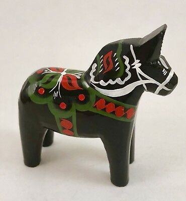 "NEW Swedish Dala Horse 3"" Black"