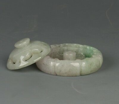 Chinese Exquisite Hand-carved Jadeite jade incense burner