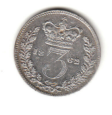 Great Britain 3 Pence  1862  Victoria young head
