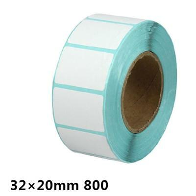 1000Pieces 30x20mm Blank White Thermal Labels Rolls Self Adhesive Sticker
