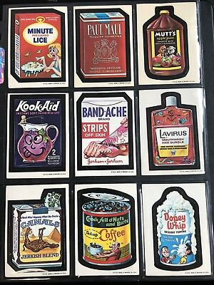 1973 Topps Wacky Packages Original 1st Series Complete Set High Grade 30/30