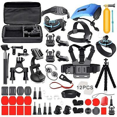 Accessories Kit Set Bundle with Carrying Case For Gopro Hero 5/6/7/(2018)