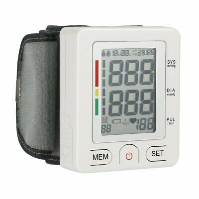 Fully Automatic Blood Pressure Monitor Adjustable Wrist Cuff LCD Display VIP