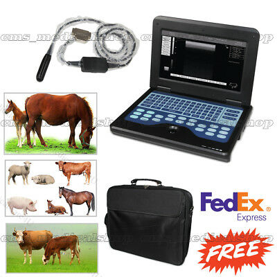 VET Veterinary Portable Ultrasound Scanner Laptop Machine+7.5Mhz Rectal Probe