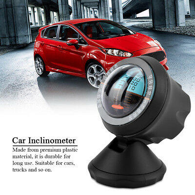 Car Vehicle Inclinometer Slope Indicator Meter Level Tilt Gauge Road Safety