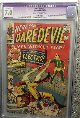 Daredevil #2 (Jun 1964, Marvel) CGC 7.0