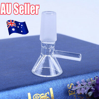 14mm clear​ Glass Bowl Male Joint For Bongs Water Pipes Hookah Funnel Type S4