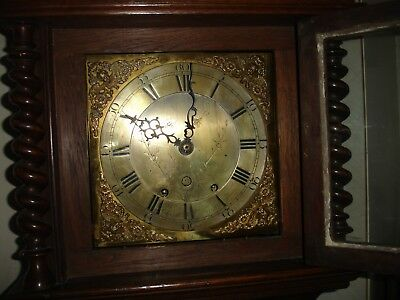 Antique Oak Case  Longcase Clock Twin Weight Movement (John Coates Cirencester)