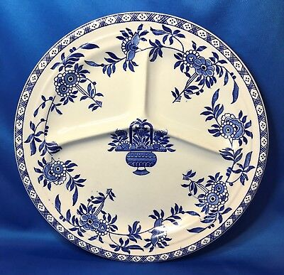 Rare Globe Pottery DELPH Stanley Hotel Ware Divided Grill Plate Made in England