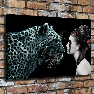 "12""x20"" Dark Women Gaze 12""x20"" HD Canvas Print Painting Home Decor Picture Wall"