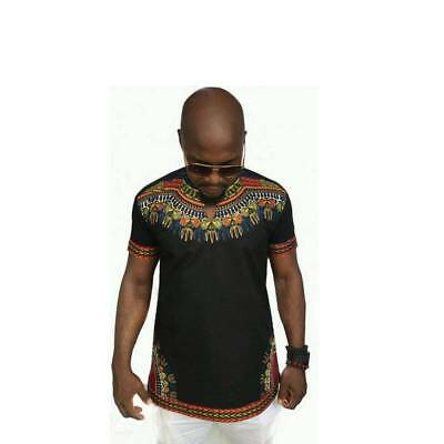 Mens Top Blouse Shirt African Top Hippie Vintage Boho Tribal  Clothes