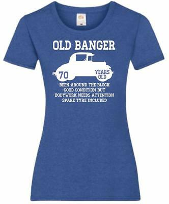 71st Birthday Gift Present Old Banger 70 Years 1948 Womens Heather TShirt Top