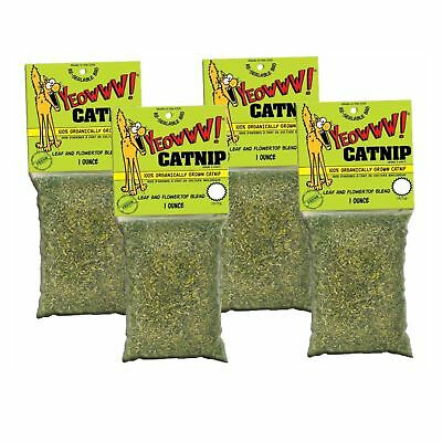 YEOWWW! Catnip 1 ounce 4 PACK   Pure Leaf and Flowertop   For Cats and Kittens