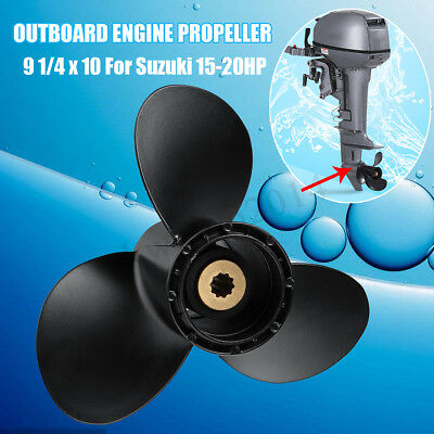 For Suzuki Prop 15-20HP Aluminum Alloy Outboard Engine Propeller 9 1/4x10 Pitch