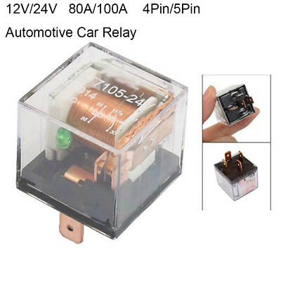12V/24V 80A/100A 5Pin SPDT Car Control Relay Waterproof with Indicator Light New