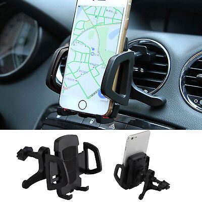 Universal Mobile Phone 360 Rotating In Car Air Vent Mount Holder Clip Cradle UK