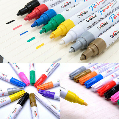 Universal Oil Paint Marker Pen Multi-colors Permanent Car Tyre Rubber Filler Pen