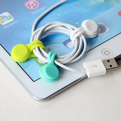 Lovely Headphone Earphone Cord Winder Wrap Organizer Cable Tie Holder KI