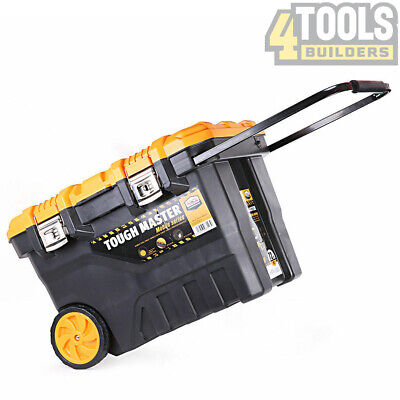 Tough Master Professional Mobile Tool Box Chest 28'' on Wheels With Tote Tray