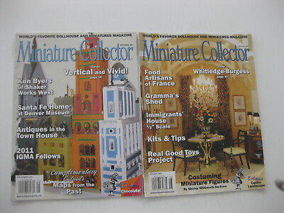 Miniature Collector Magazines - August & Sept 2011