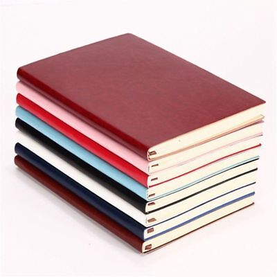 6 Color Random Soft Cover PU Leather Notebook Writing Journal 100 Page Line F9A6